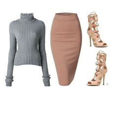 Perfect look for fall #nude #pencilskirt