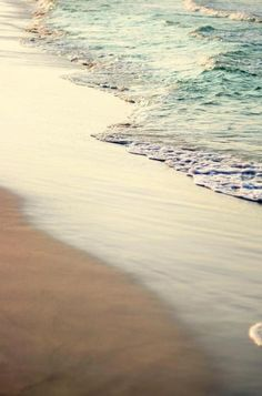 waves gently lapping the sand . . .