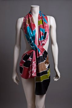 Flower Power hand painted prettyness - silk charmeuse scarf.