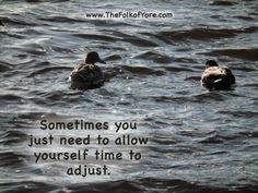 Sometimes you just need to allow yourself time to adjust. www.TheFolkofYore.com