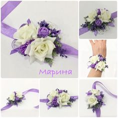 Corsage Wedding, Marie, Diy And Crafts, Lavender, Crown, Corsages, Yellow, Decor, Wedding