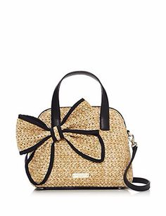 Kate Spade New York Belle Place Straw Small Maise Crossbody