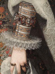 Juan Pantoja de la Cruz: Margaret of Austria, Queen Consort of Philip III of Spain c1605.