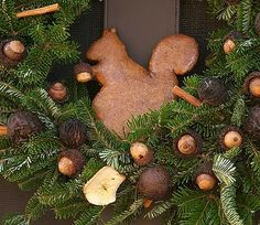 Colonial Williamsburg-could make a cut out from cinnamon ornaments to insert in a wreath.