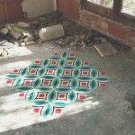 Javier De Riba Spray Paints the Floors of Derelict Buildings With Geometric, Tile-Like Patterns - Dress-up sidewalks, patios, ugly garage floor...