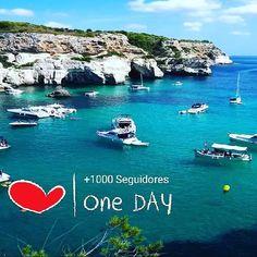 Ya somos  de 1000 Seguidores muchas gracias #Menorca