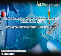 Global Summit on Pharmaceutical Sciences & Clinical Trials provides a unique opportunity for over 'number' of pharmaceutical experts to engage in scientific discussion about the current research results and latest advancements that help the industry going forward.  #Pharmacology #Pharmacognosy #Neuropharmacology #Psychopharmacology #Clinical #Pharmacologytherapeutics #Pharmacogenetics #conference, #events, #meeting, #seminar, Bioleagues