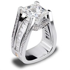 Such an amazing design!!! Features a 7.07 carat radiant cut diamond.