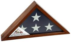 Urns Northwest  - Antique Distressed Pine Flag Case, $219.00 (http://urnsnw.com/antique-distressed-pine-flag-case/). Made in the USA from reclaimed antique distressed pine wood. A beautiful flag memorial for a veteran.