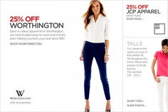 JC Penny - tall women's clothing online. They claim 9 pages of tall