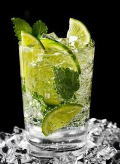 Traditional Drinks From Cuba Mojito Black Background Picture HD Wallpaper