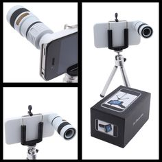 '8x Optical Zoom Telescope Camera Lens For iPhone 4 4G 5' is going up for auction at  5pm Thu, Jul 18 with a starting bid of $1.