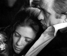 Johnny Cash and June Carter; really a lovely image.