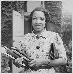 Lois Mailou Jones (1905-1998), artist and Howard University professor.    Lois painted portraits, as well as designing masks, textiles and stained glass windows.  Well traveled, Lois was influenced by black culture in the US, Haiti and Africa.     Lois's work is regularly displayed in museums.  In 2012, her work will be on display in Maryland, Alabama and Florida.