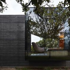This moody Melbourne house extension by local studio Branch Studio Architects features dark rammed-charcoal walls window nooks and an outdoor bathtub. See more images on http://ift.tt/1RayTxi #architecture #house #extension #Melbourne Photograph by Peter Clarke. - Architecture and Home Decor - Bedroom - Bathroom - Kitchen And Living Room Interior Design Decorating Ideas - #architecture #design #interiordesign #homedesign #architect #architectural #homedecor #realestate #contemporaryart…