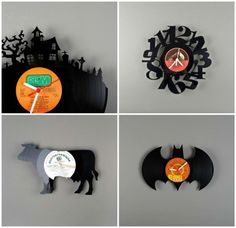Pavel Sidorenko is an Estonian designer. We were amazed by the precision of his hand made vinyl clocks! Beautiful and very creative (many other designs following the link).