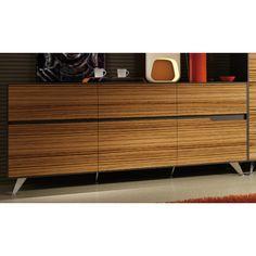 Excel 6 Drawer  Buffet Unit - Zebra Wood