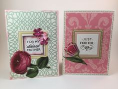 Handmade Pop-up Mothers Day cards, Set of two, Cards for Mother, Pop-Up, Anna Griffin style, Floral cards,3-dimensional cards by Andreaswishcraft on Etsy