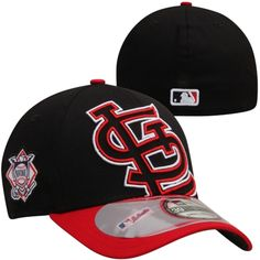 New Era St. Louis Cardinals MLB 2014 On-Field Clubhouse 39THIRTY Flex Hat - Black