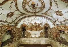 Capuchin Crypt, Santa Maria della Concezione dei Cappucini  Under the church of Santa Maria della Cocezione in Rome,lies the fascinatingly morbid Capuchin Crypt, a small space consisting of 7 tiny chapels, entirely decorated by the bones of 4000 Capuchin friars, who died between 1528 and 1870.