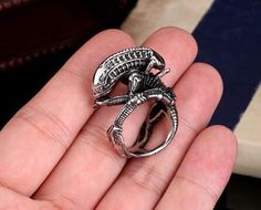 Titanium 316L Stainless Steel Ring, Jewelry of AVP Alien, US Size7~13# Gothic Punk JPearl#099