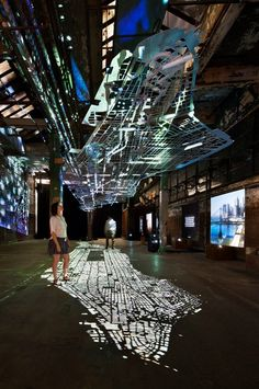 """Image of the Day: A view from the exhibit """"Experiments in Motion,"""" by Columbia University Graduate School of Architecture, Planning and Preservation, currently open to the public in the Lower East Side's Low Line. (photograph by Michael Moran.)"""