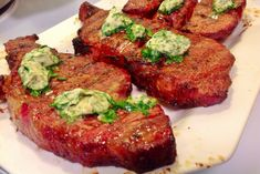 Traeger Steak with Herb Butter recipe