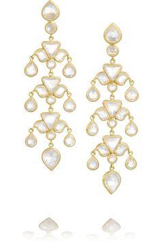MUNNU The Gem Palace gold moonstone earrings