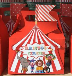 10 x cajas de dulces de circo Custom por AKStyling en Etsy