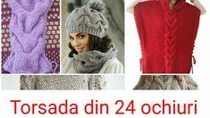 Tricotam. Torsada mare din 24 ochiuri. Big Cable stitch Pattern knitting.