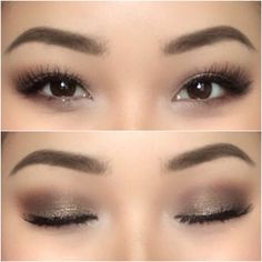 Make up for Asian eyes. Soft simple with a little glitter. Follow me on my person IG account: shirleyvang101 (Beauty Face Asian)