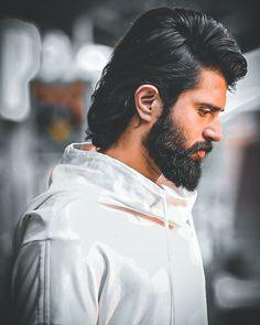 Mens Hairstyles With Beard, Hair And Beard Styles, Bollywood Posters, Bollywood Actors, Actor Picture, Actor Photo, Telugu Hero, Dj Movie, Vijay Devarakonda
