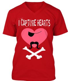 Discover I Capture Heart Valentine T-Shirt from Mom saying shirt store, a custom product made just for you by Teespring. With world-class production and customer support, your satisfaction is guaranteed. - I Capture Hearts Diy Valentine's Shirts, Father's Day T Shirts, Shirts For Teens, Gym Shirts, Couple Shirts, Diy Shirt, Teacher Shirts, Kids Shirts, Valentine Shirts