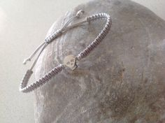 Items similar to sterling silver skull bracelet, friendship bracelet, macrame bracelet, charm bracelet, Day of the dead on Etsy Skull Bracelet, Macrame Bracelets, Friendship Bracelets, Sterling Silver, Unique Jewelry, Handmade Gifts, Vintage, Etsy, Kid Craft Gifts
