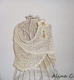 lo spazio di lilla: Facciamo insieme...Lo scialle crochet superfacile / Let's make together...The easy-peasy crochet shawl