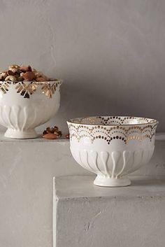 Gilded Thistle Nut Bowl (anthropologie)