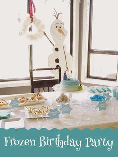 Frozen birthday party, frozen party