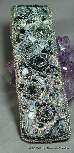 STAR STRUCK Shibori: Bead Embroidery Cuff/Bracelet