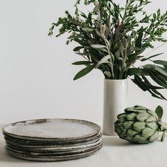 Dinner plates, Judith Hoffmann ceramics