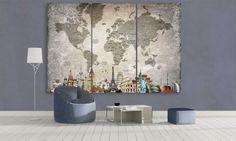 World Map Light Overlay Canvas Frame, Canvas Wall Art, Wall Art Prints, Panel Wall Art, Framed Wall Art, Large World Map Canvas, World Map Wall Art, Travel Wall, Wooden Bar