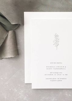 Simple Wedding Invitation Sample Nichole Letterpress