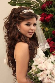 Curly Hairstyles with Headbands | Wedding-curly-hairstyles-with-headband-and-veil-for-long-thick-hair ...