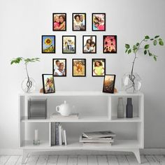 Picture Frame Arrangements, Black Picture Frames, Black Frames, Diy Picture Frames On The Wall, Family Picture Collages, Hanging Picture Frames, Gallery Wall Layout, Gallery Walls, Photo Wall Decor