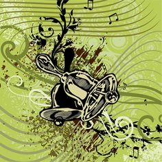 Vector Drawing - Musical Backgrounds by ClipartDesign
