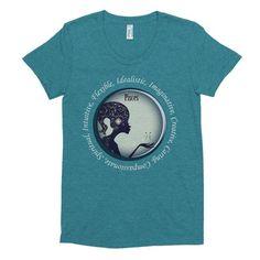 Pisces Girl- Women's short sleeve soft t-shirt (white)