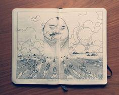 dibujos Jared Muralt moleskine