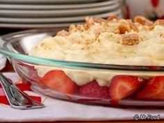 Upside Down Strawberry Cheesecake