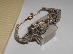 Rosenarmband mit goldenem Kettchen Silber AB167 von Atelier Regina auf DaWanda.com