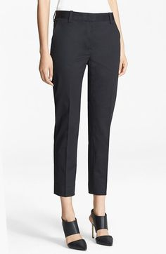 3.1 Phillip Lim Crop Stretch Cotton Pencil Trousers available at #Nordstrom