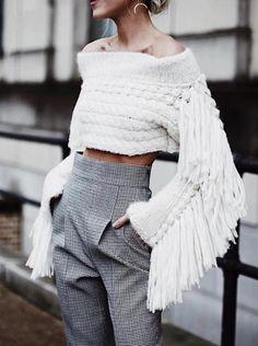 Knitwear Fashion, Knit Fashion, Mens Fashion, Mode Outfits, Fashion Outfits, Happily Grey, Modern Fashion, Fashion Design, Looks Cool